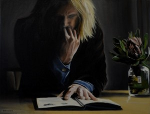 Stu Larsen - Jacinta Moore 40 x 31 cm oil on linen