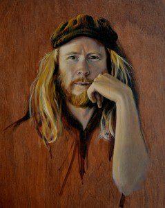 Stu Larsen - Vagabond. oil on plywood 35 x 43 cm web