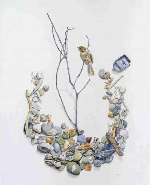 Terra Australis 2 2015 82 x 102 cm watercolour and oil pencil