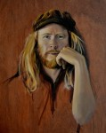 Stu Larsen - Vagabond. oil on plywood 35 x 43 cm