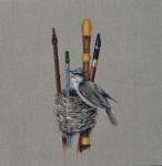 'I've always been a collector' Reed Warbler Woodwind Instruments 2014 oil on linen 40.5 x 40.5 cm