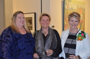 Susi Muddiman, Director of Tweed Regional Art Gallery, the artist Deb Mostert, Tracy Cooper-Lavery, Director of Rockhampton Art Gallery