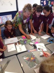 working with grade 4 students at St Peter's Lutheran College at Springfield