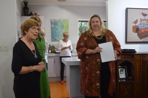 My dealer Lorraine Pilgrim and Susi Muddiman (Director of the Tweed Regional Art Gallery) who graciously opened the exhibition.